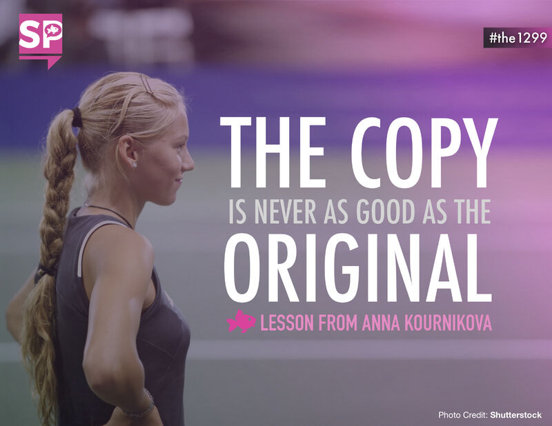 The copy is never as good as the original