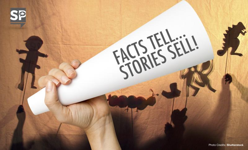 """Facts tell, stories sell."" – Bryan Eisenberg"