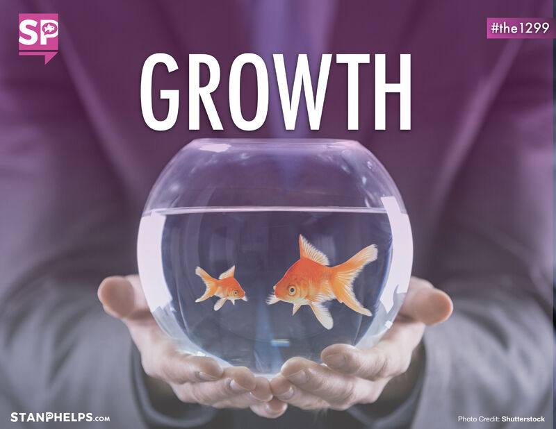The growth of a goldfish is a metaphor for growth in business and the importance of differentiation