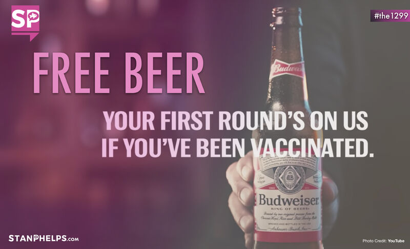 Budweiser offers free beer to those who get the COVID-19 vaccine