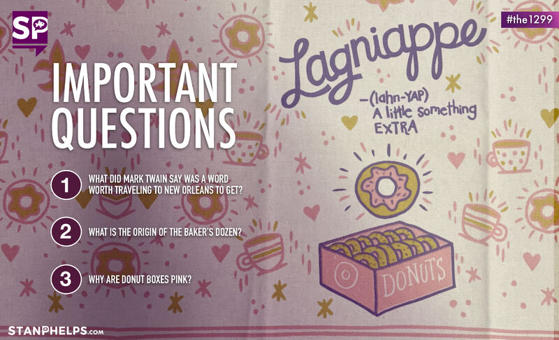 The word that spawned my Goldfish Series of books, a 13th donut, and a pink donut box